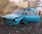 Gestolen auto op autosloperij.